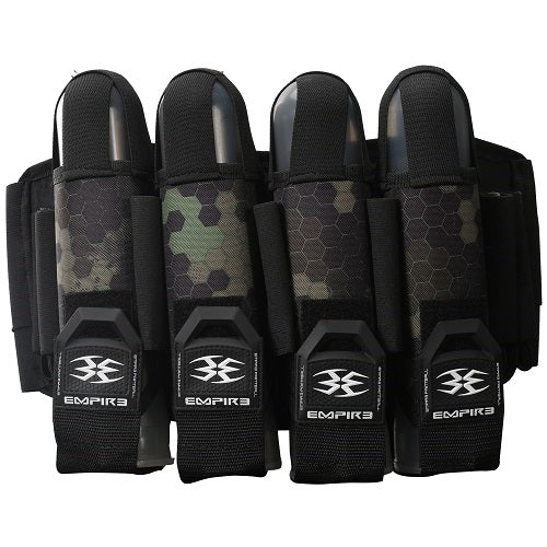 Photos of Empire Action Pack Harness - 4+7 - Hex Olive. Photo taken by drpaintball.com