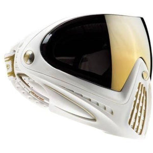 Photos of Dye I4 Paintball Goggle - White/Gold. Photo taken by drpaintball.com