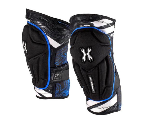 HK Army Crash Knee Pads - Black/Blue - XL