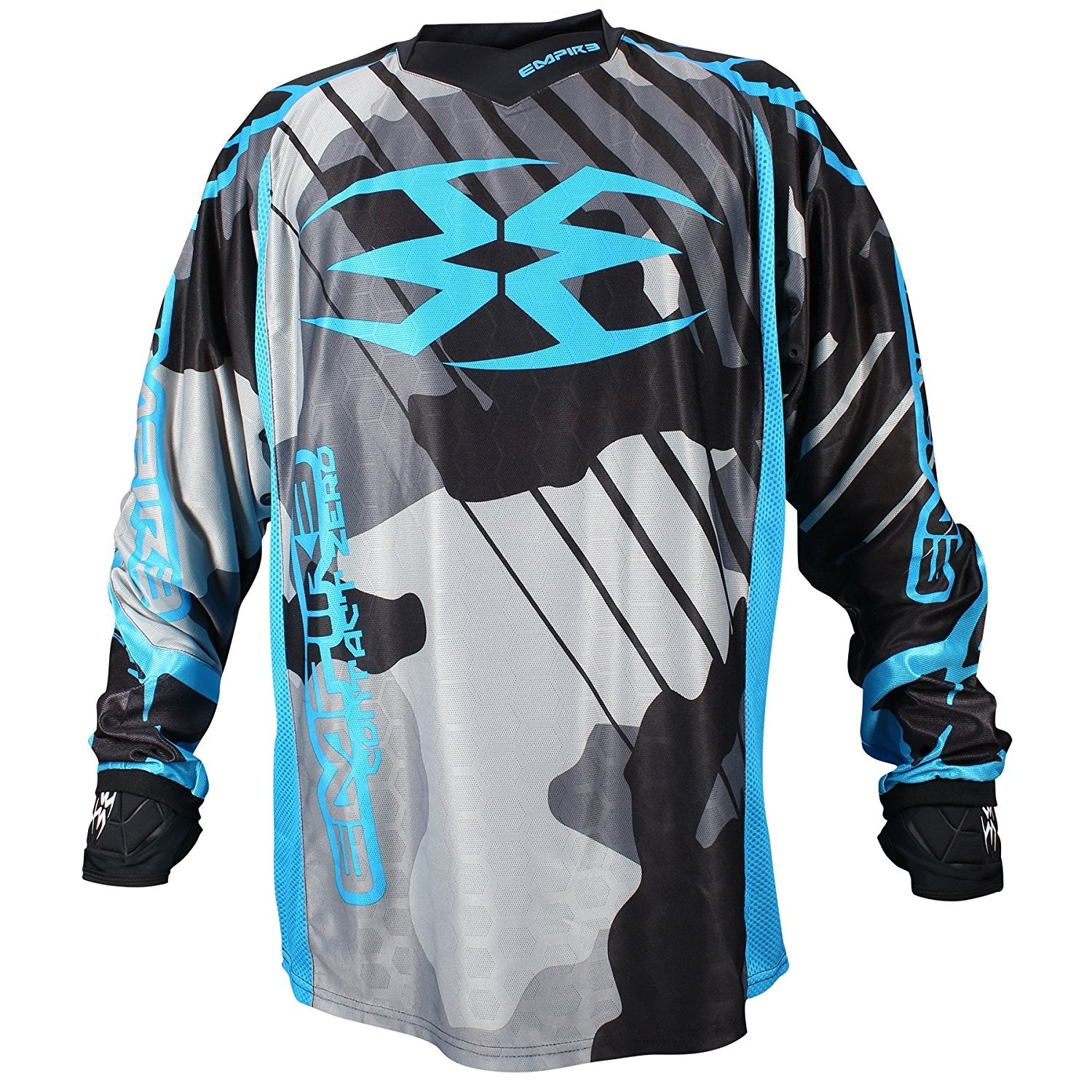Photos of Empire Contact Zero F6 Jersey - Blue - XL. Photo taken by drpaintball.com