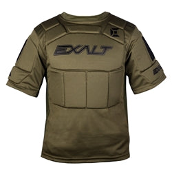 Photos of Exalt Alpha Chest Protector - Olive - Small/Medium. Photo taken by drpaintball.com