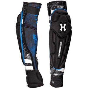 HK Army Crash Elbow Pads - Black/Blue - S/M
