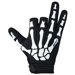 Photos of Exalt Death Grip Gloves - Black/White - Large. Photo taken by drpaintball.com