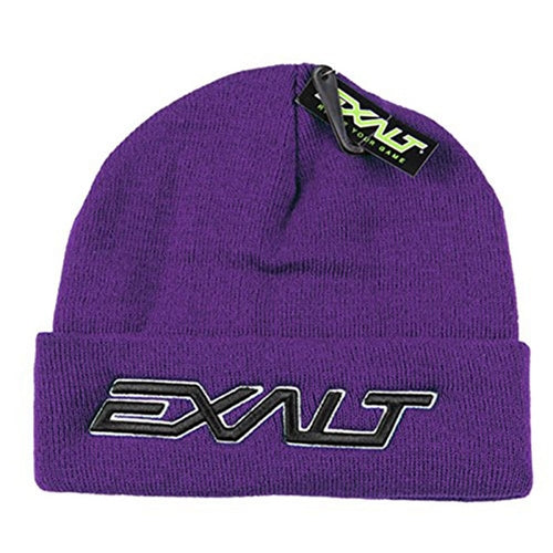 Photos of Exalt Crossroads Beanie - Bold Purple. Photo taken by drpaintball.com
