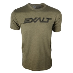Photos of Exalt Paintball T-Shirt - OG Olive - XL. Photo taken by drpaintball.com