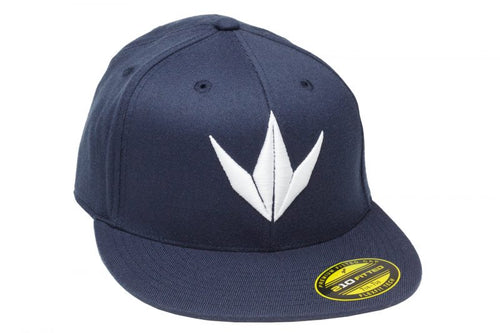 Photos of Bunker Kings Hat - Flex Fit 3D Cap - Navy/White - S/M. Photo taken by drpaintball.com