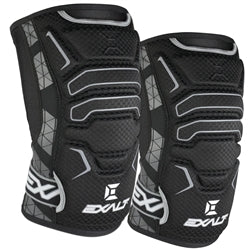 Photos of Exalt Paintball FreeFlex Knee Pads - Black - Small. Photo taken by drpaintball.com