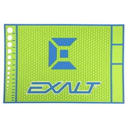 Photos of Exalt HD Rubber Tech Mat - Lime-Blue. Photo taken by drpaintball.com