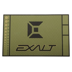 Photos of Exalt HD Rubber Tech Mat - Army Olive. Photo taken by drpaintball.com