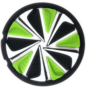Photos of Exalt Dye Paintball Rotor Fastfeed - Black/Lime/White. Photo taken by drpaintball.com