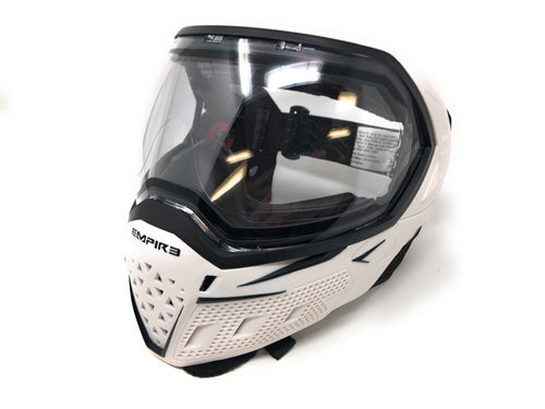 Photos of Empire EVS Paintball Goggles - White/Black. Photo taken by drpaintball.com