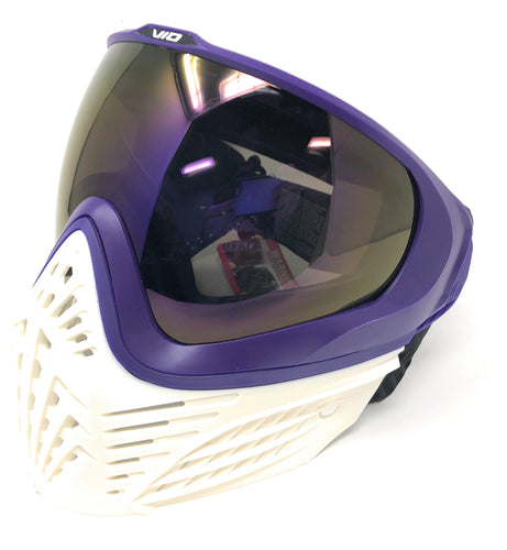 Photos of Virtue VIO Extend Thermal Paintball Goggle - White/Purple. Photo taken by drpaintball.com