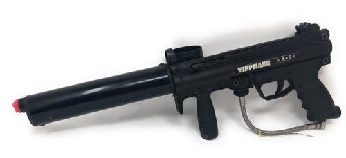 Photos of Used Tippmann A5 w/ Barrel Shroud. Photo taken by drpaintball.com
