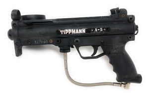 Photos of Used Tippmann A5. Photo taken by drpaintball.com