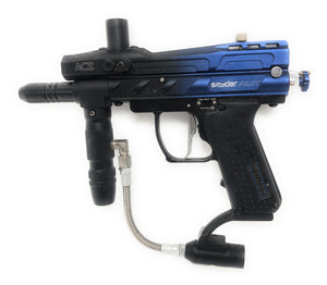 Photos of Used Spyder Pilot Electric Marker - Blue/Black. Photo taken by drpaintball.com