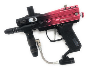 Photos of Used Spyder Pilot Electric Marker - Red/Black. Photo taken by drpaintball.com