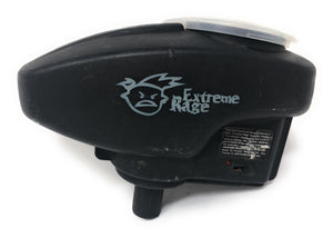 Photos of Used Extreme Rage Electronic Loader. Photo taken by drpaintball.com