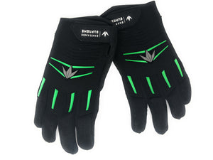 Photos of Used Bunkerkings Gloves - Black/Lime - Small/Medium. Photo taken by drpaintball.com