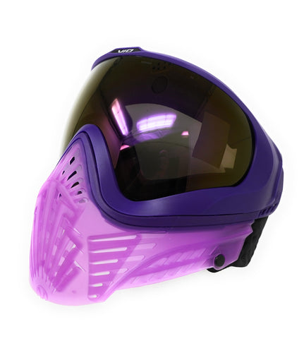 Photos of Virtue Vio XS Crystal Paintball Goggles - Purple. Photo taken by drpaintball.com