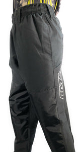 Photos of Raza Budget Baller Paintball Pants - Black - XS. Photo taken by drpaintball.com