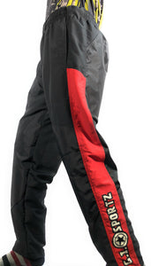 Photos of GI Sportz Grind Pants - Black/Red - XL. Photo taken by drpaintball.com