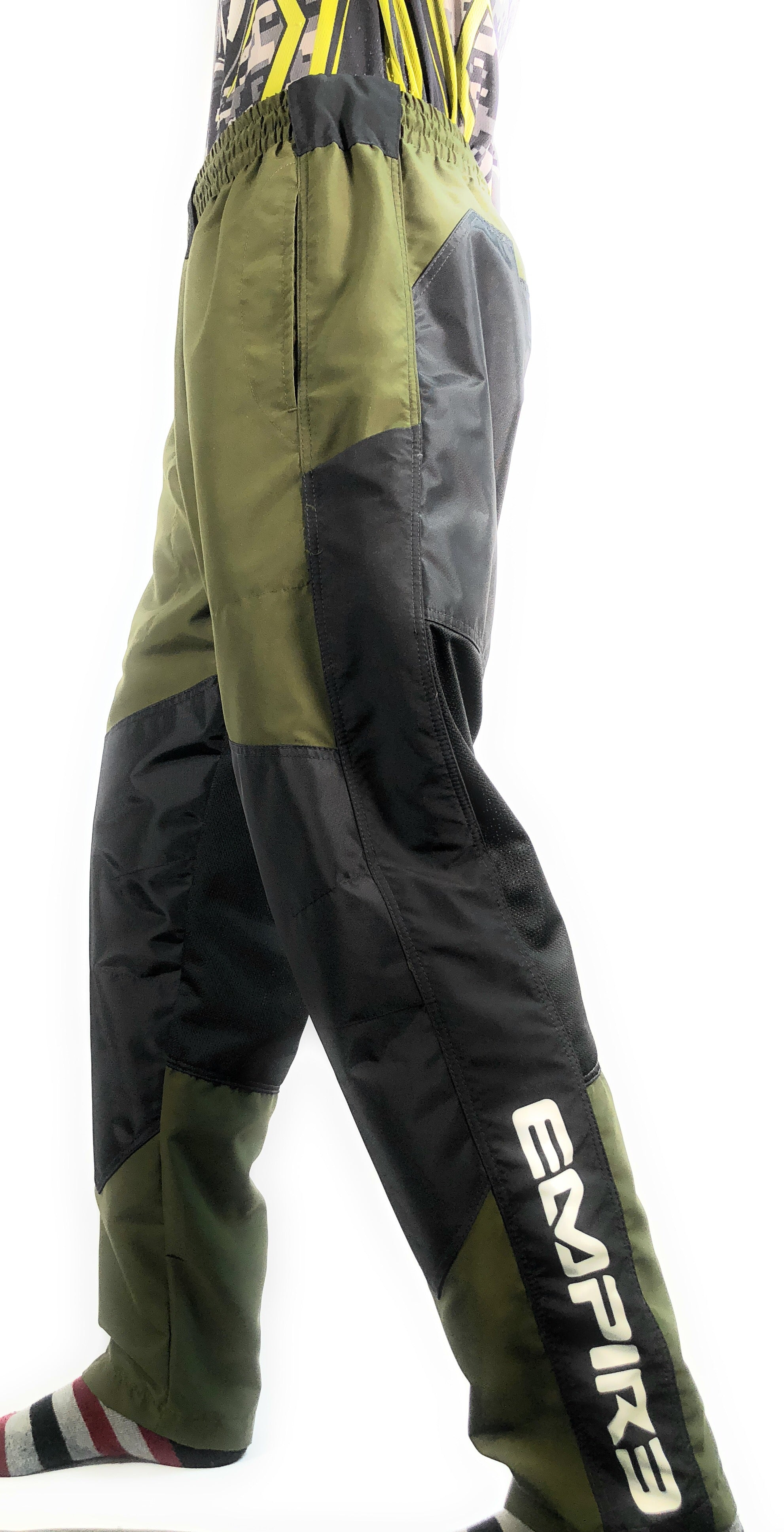 Photos of Empire Grind Pants - Olive - Large. Photo taken by drpaintball.com