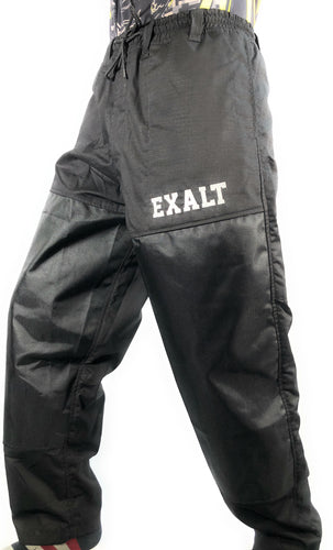 Photos of Exalt Paintball Throwback Pants - Black - Small. Photo taken by drpaintball.com