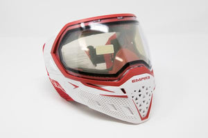 Photos of Empire EVS Paintball Goggles - White/Red. Photo taken by drpaintball.com