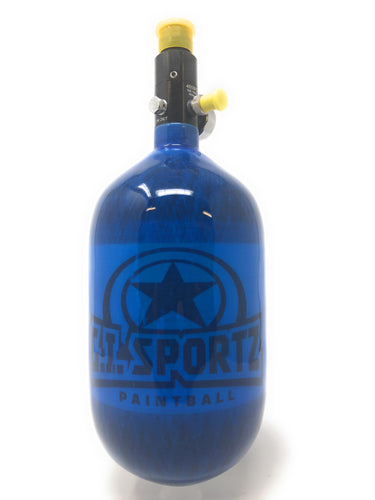 Photos of Empire Basics Carbon HPA Tank - Blue - 68/4500. Photo taken by drpaintball.com