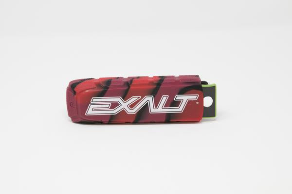 Photos of Exalt Paintball Barrel Cover - Red Swirl. Photo taken by drpaintball.com
