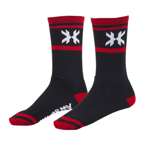 Photos of HK Army Speed Socks - Black/Red. Photo taken by drpaintball.com