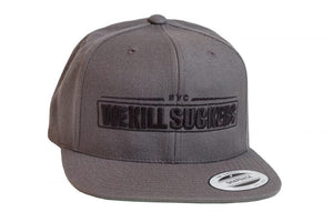Photos of Bunker Kings Hat - Snapback Cap - WKS Grey/Black. Photo taken by drpaintball.com