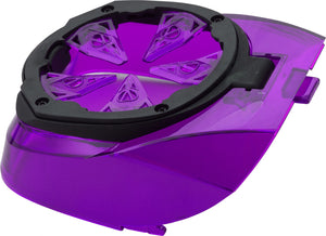 Photos of Virtue Crown SF - Spring Finger Speed Feed - Spire - Purple. Photo taken by drpaintball.com
