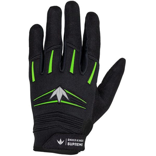 Photos of Bunkerkings Supreme Paintball Gloves - Lime - Large/XL. Photo taken by drpaintball.com