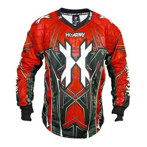 Photos of HK Army HSTL Line Paintball Jersey - Red - Small. Photo taken by drpaintball.com
