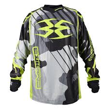 Photos of Empire Contact Zero F6 Jersey - Black/White/Lime - XL. Photo taken by drpaintball.com