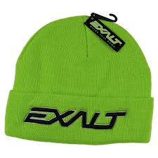 Photos of Exalt Crossroads Beanie - Bold Lime. Photo taken by drpaintball.com