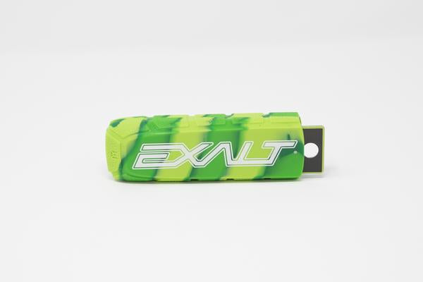 Photos of Exalt Paintball Barrel Cover - Lime Swirl. Photo taken by drpaintball.com