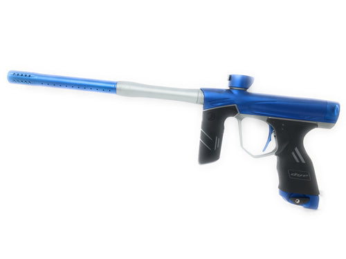 Photos of Dye DSR Paintball Marker - Blue/Grey. Photo taken by drpaintball.com