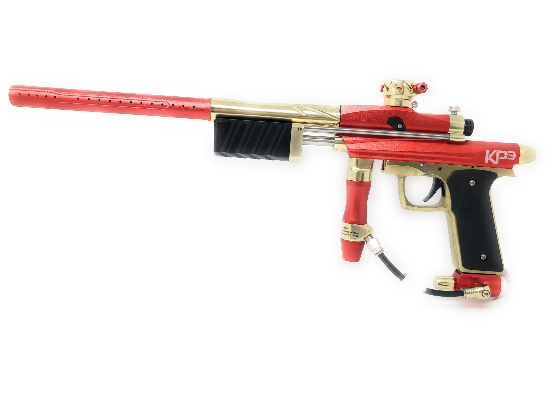 Photos of Azodin KP3 Pump Paintball Marker - Orange/Gold. Photo taken by drpaintball.com
