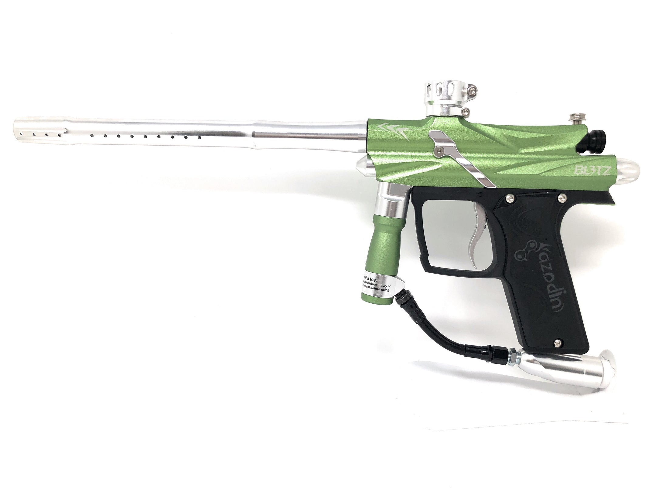 Photos of Azodin Blitz 3 Paintball Marker - Green/Silver. Photo taken by drpaintball.com