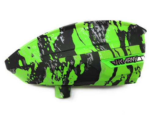 Photos of HK Army TFX Paintball Loader - Fracture Lime (Green/Black). Photo taken by drpaintball.com