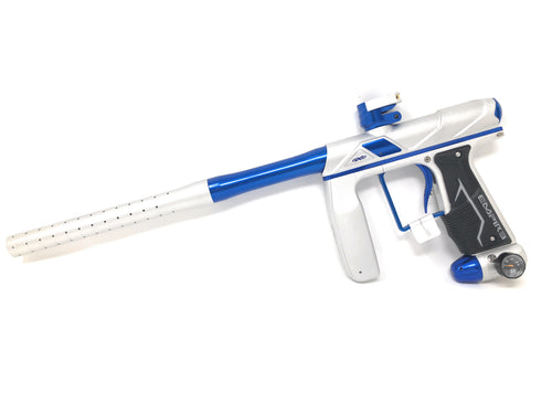 Photos of Empire Axe Pro Paintball Marker - White/Blue. Photo taken by drpaintball.com