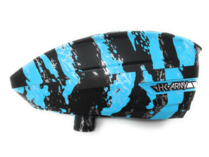 Photos of HK Army TFX Paintball Loader - Fracture Arctic (Blue/Black). Photo taken by drpaintball.com