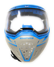 Photos of Empire EVS Paintball Goggles - Grey/Blue. Photo taken by drpaintball.com