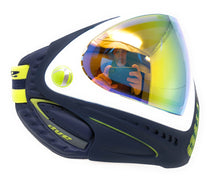 Photos of Dye I4 Paintball Goggle - Legion of Boom (Blue/White/Lime). Photo taken by drpaintball.com