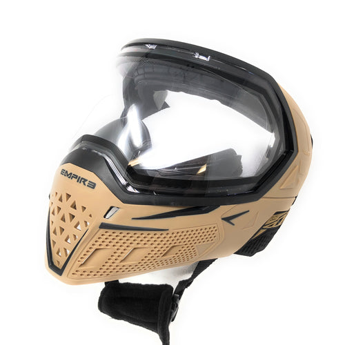 Photos of Empire EVS Paintball Goggles - Tan/Black. Photo taken by drpaintball.com