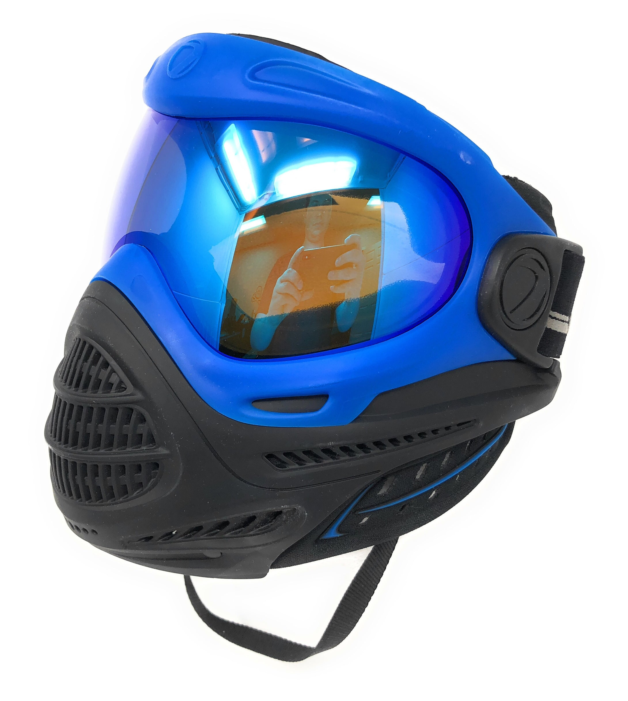 Photos of Dye Axis Pro Paintball Mask - Blue Ice. Photo taken by drpaintball.com
