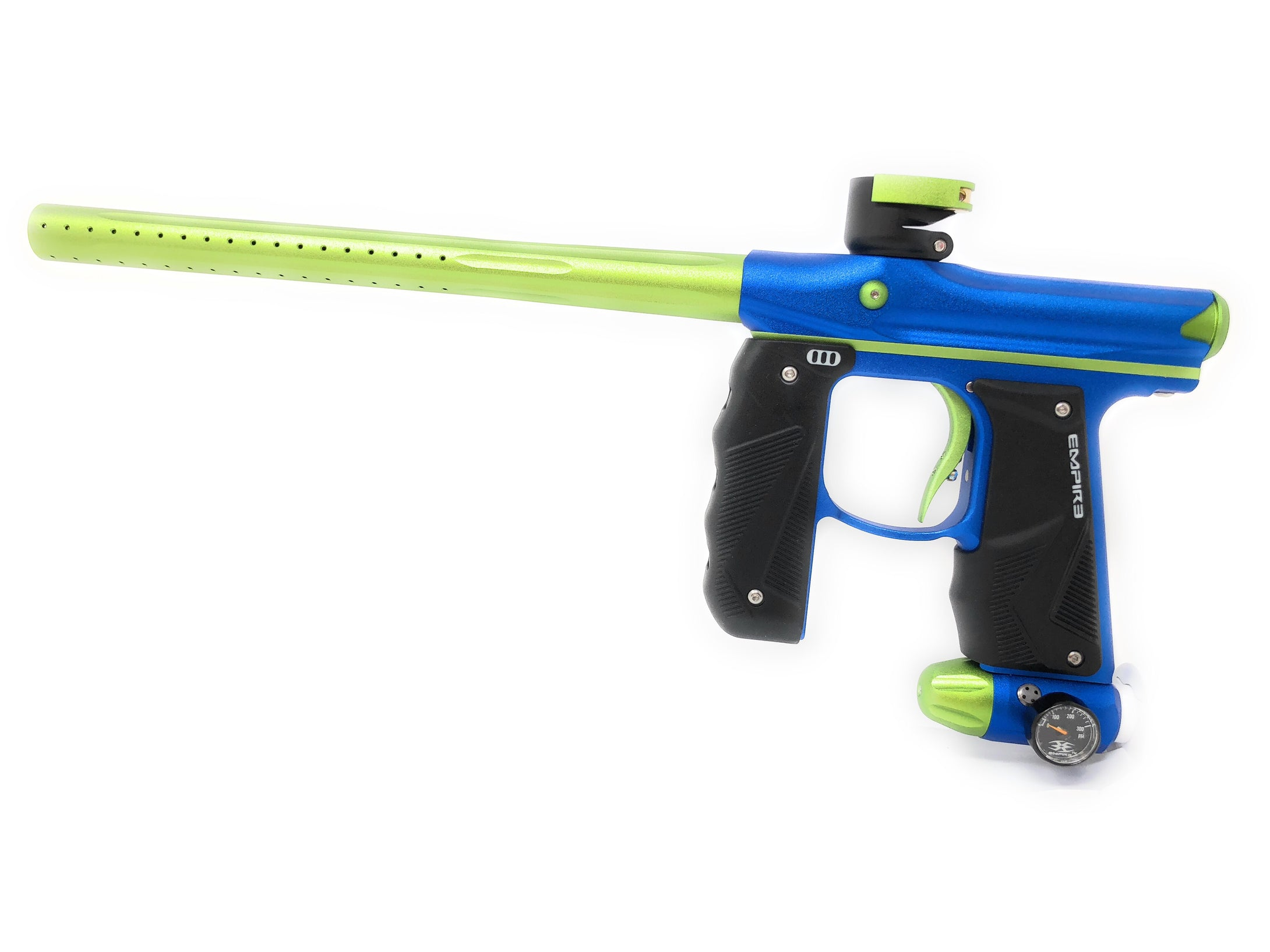 Photos of Empire Mini GS Paintball Marker - Blue/Green. Photo taken by drpaintball.com