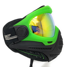 Photos of Dye Axis Pro Paintball Mask - Green Northern Lights. Photo taken by drpaintball.com